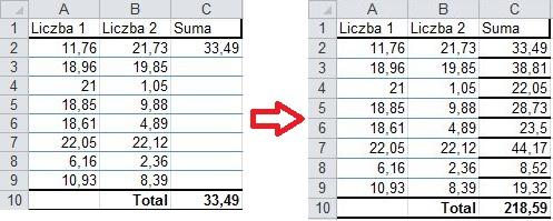 Szybkie wprowadzanie formuł/wartości z zachowaniem formatowania - przykład