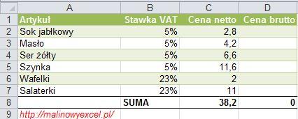 MalinowyExcel_Obliczanie_podatku_VAT1