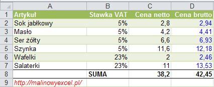 MalinowyExcel_Obliczanie_podatku_VAT4