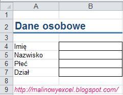 Lista rozwijana w komórce - formularz