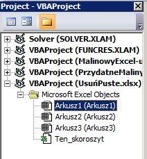 MalinowyExcel-Usuwanie-pustych-wierszy-VBAProject
