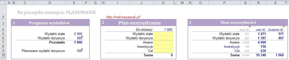 Sekcja Planowanie