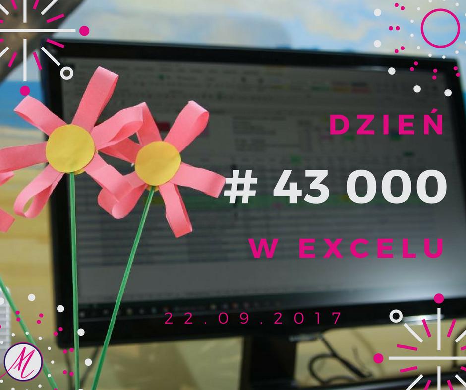 Dzień 43000 w Excelu