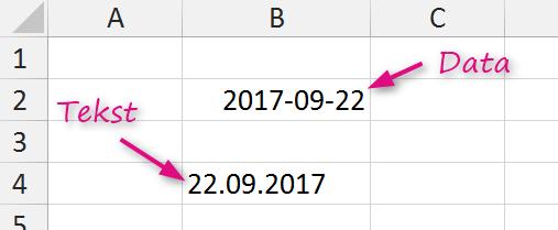 Wyrównanie daty do prawej strony