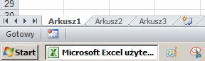 Kilka plików Excela pokazywane na pasku zadań jako jedno okno