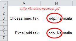 Co chcesz mieć, a co robi Excel to dwie różne sprawy...