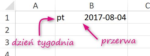 Docelowy format daty