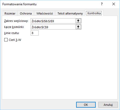 Lista rozwijana jako formant formularza